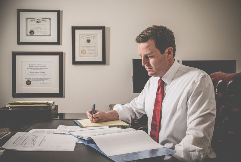 Orlando Personal Injury attorney Working